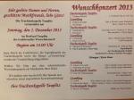 Programm Wunschkonzert 2013